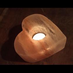 Solná lampa na svíčku - srdce