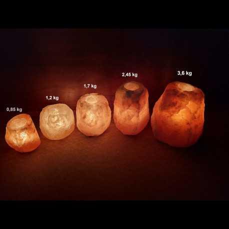 Solná lampa na svíčku 3 - 4 kg