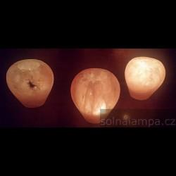 Solná lampa na svíčku - broušené jablko