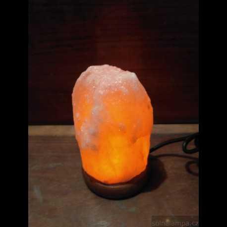 přírodní solná lampa USB - oranžová